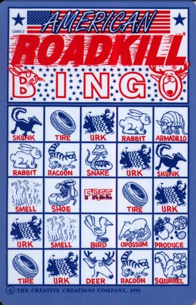 roadkill bingo co